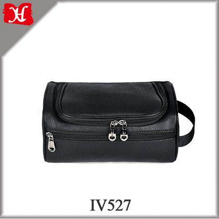 Genuine Leather Personalized Cosmetic Bag Leather Toiletry Bag for travel