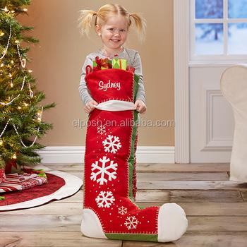 joyful flurries personalized oversized christmas stocking - Giant Christmas Stocking