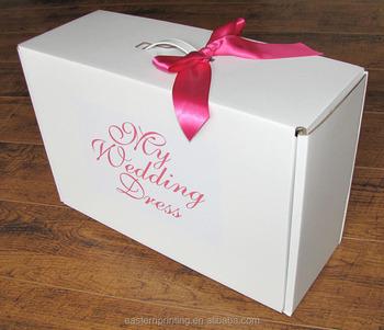 Custom Corrugated Wedding Dress Shipping Box