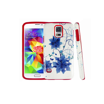 Wholesale Spare Parts OEM Custom Water Transfer Chinese Painting For Samsung Galaxy S5 I9600 Hybrid Cover Case