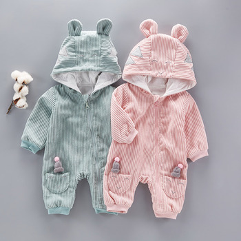 Wholesale Winter Clothes Plain Baby Long Sleeve Romper Of Free Shipping