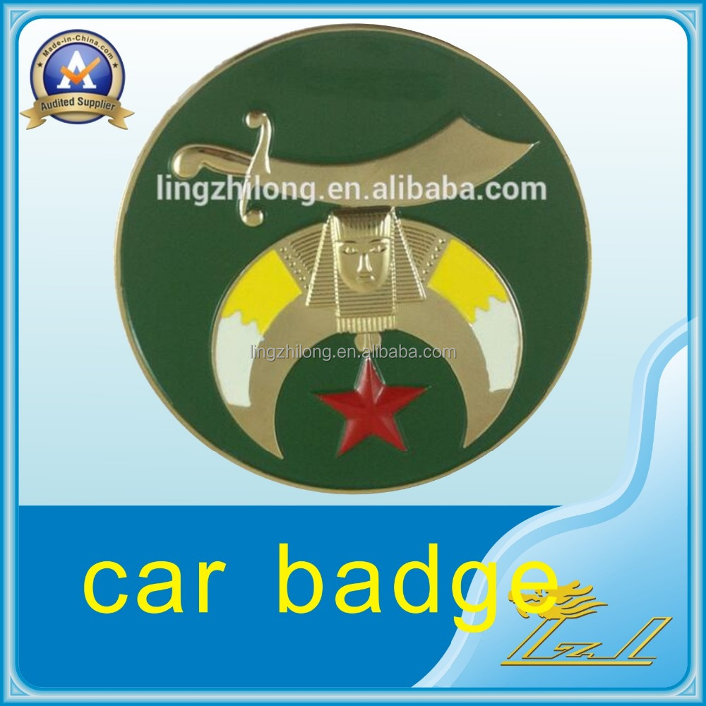 High Quality Masonic Car Badge 3d Moon Knife Star Car Emblem