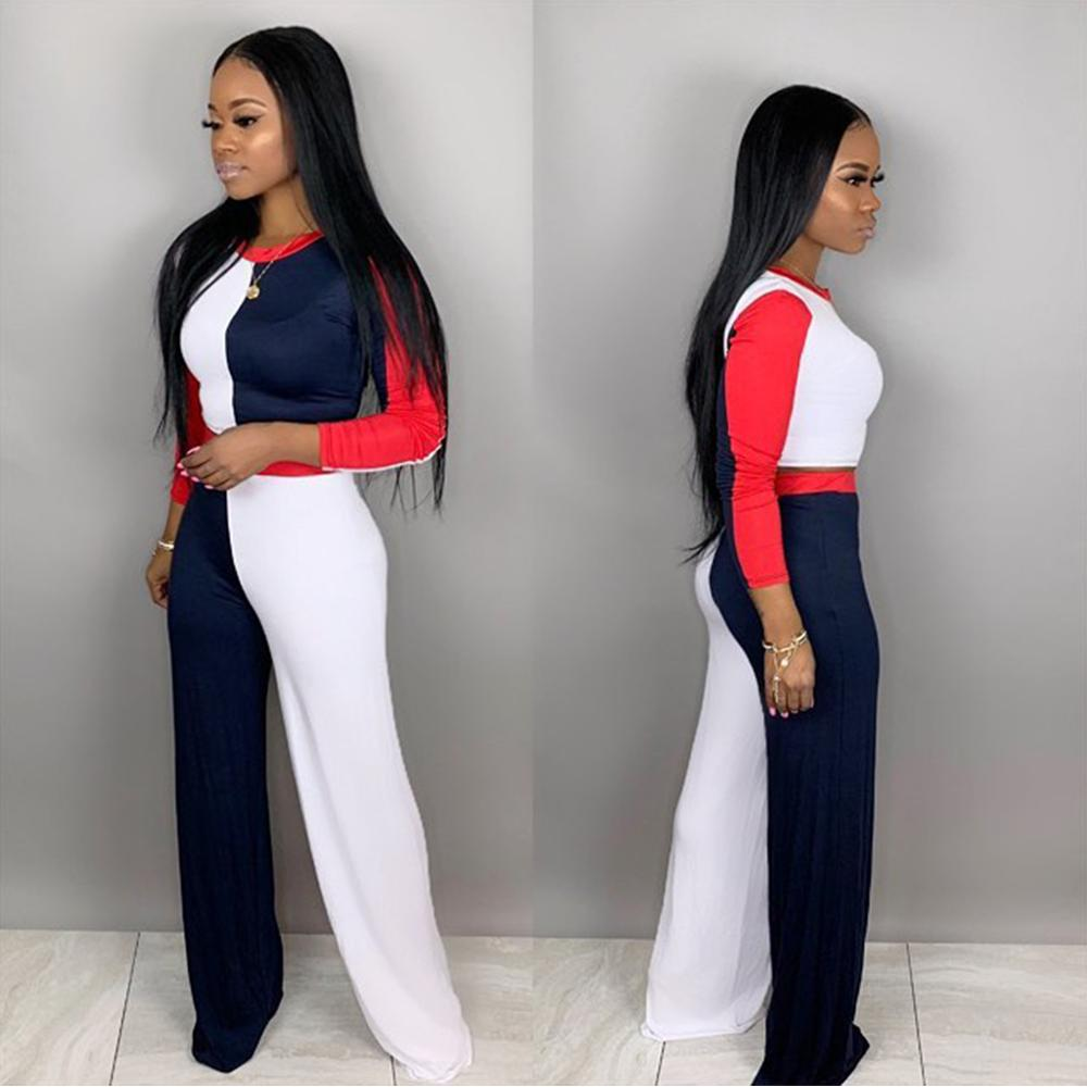 Ready to ship womens clothing latest design 2019 two piece pants set