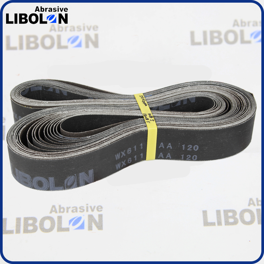 WX611 Coated abrasive sand belts for ss