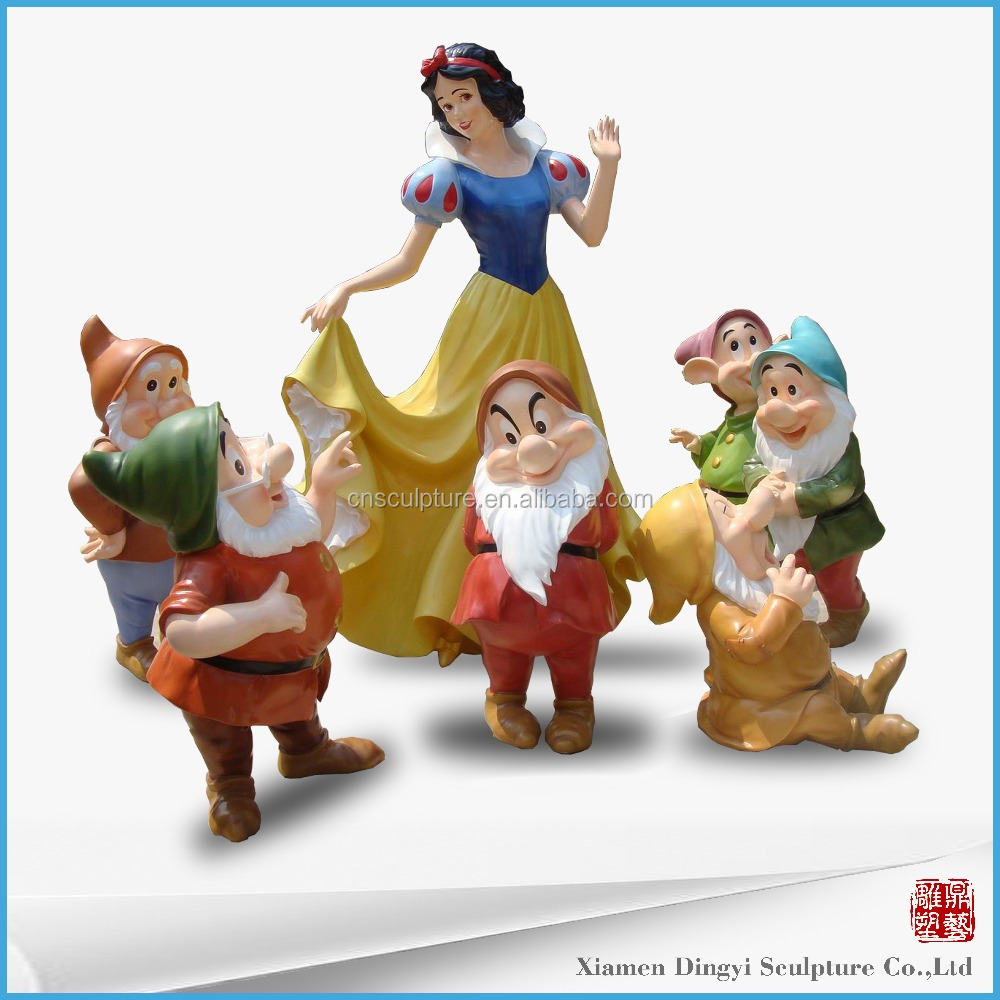 Snow white and the seven dwarfs resin character statue