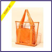 Wholesale China Clear Transparent Plastic Handbag Tote Shoulder Bags Beach Bag