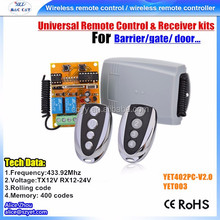 Yaoertai factory 9v-24v 2ch Channel Relay Wireless Rf Remote Control Switch 2 Transmitter+receiver