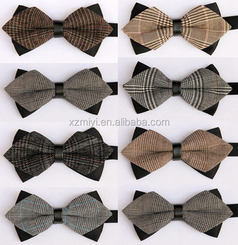Wholesale Mens Check Fabric Pattern Self Tie Bow Ties, bow tie ...