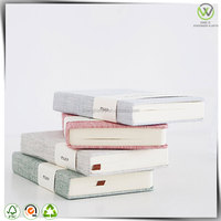 wholesale custom fabric cover fancy notebook