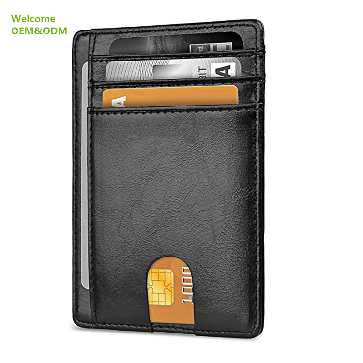 100% Top Quality Cow Leather with RFID Blocking Card Holder Mens Leather <strong>Wallet</strong>