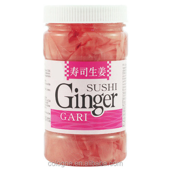 Pickled Red sushi ginger preserved ginger in plastic bottle jar