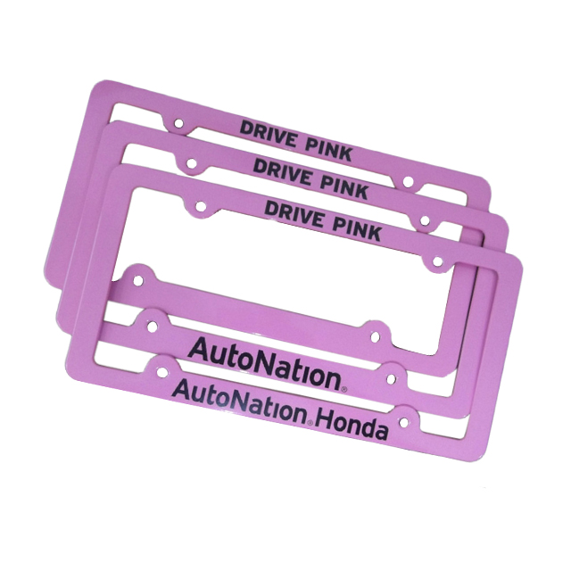 Neue Ankunft Customized Logo Printed Metal License Plate Frame