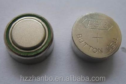 Mercury-Free Environmental 357 AG13 1.5V Alkaline button cell for watch battery