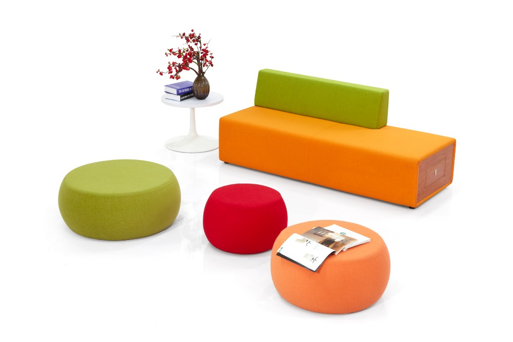 exciting colorful modern furniture | Office Furniture Colorful Modern Lobby Sofa Design Fabric ...
