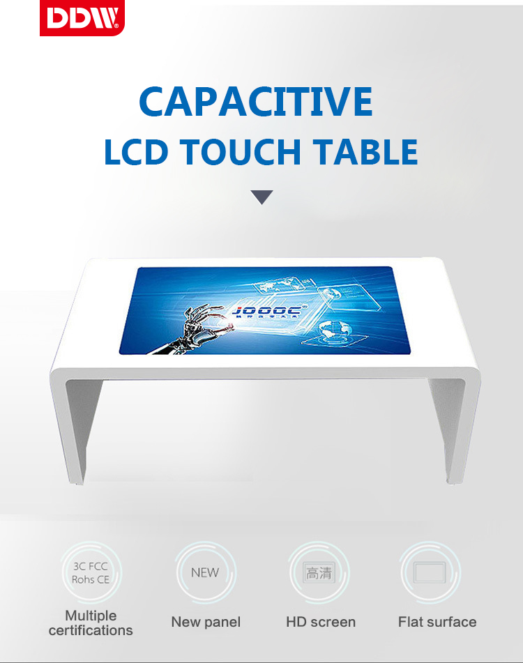 Neue modische 49 zoll innen LCD touch screen interaktive tabelle kiosk LG android kiosk für early learning-center