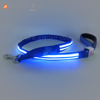 Wholesale Colorful 250mAh USB Rechargeable Nylon Super Bright LED Dog Collar Leash