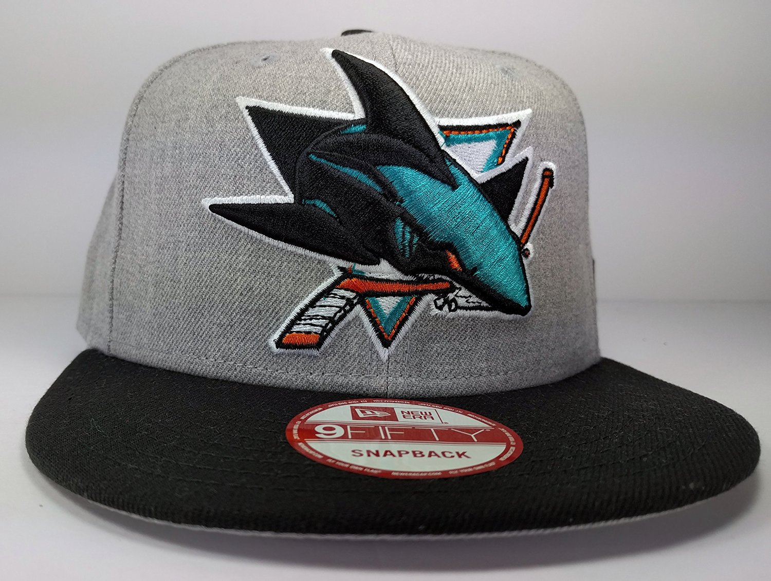 cheap for discount ff8f8 01ba8 Get Quotations · San Jose Sharks New Era Speed Up Snapback Cap Hat Grey  Black