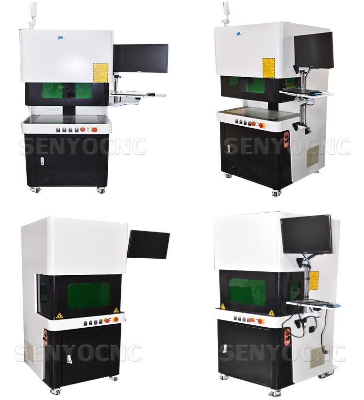 SENYOCNC laser fiber marking protective cover full cover enclosed mini 20 30 50 watt fiber laser marking machine 20w 30w 50w