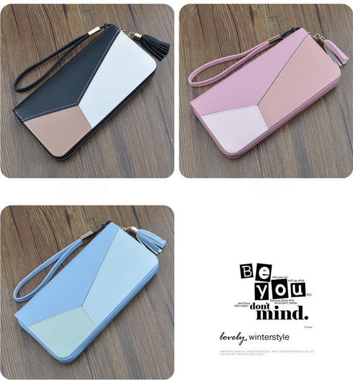 Wholesale PU Leather Slim Wallet for Women RFID blocking card holder coin holder Girl's Small Wallets Lady Purse