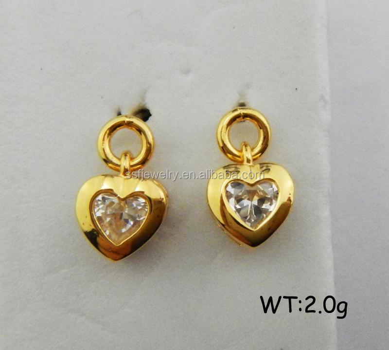 Fashion Custom Design Small Stud Jewelry Dubai 24k Gold Jewelry ...
