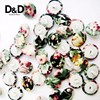 D&D Hot Sale 20pcs/lot Mixed Color Fabric Covered Buttons Plastic Button Fabric Craft For Clothes Sewing Supplies 14mm