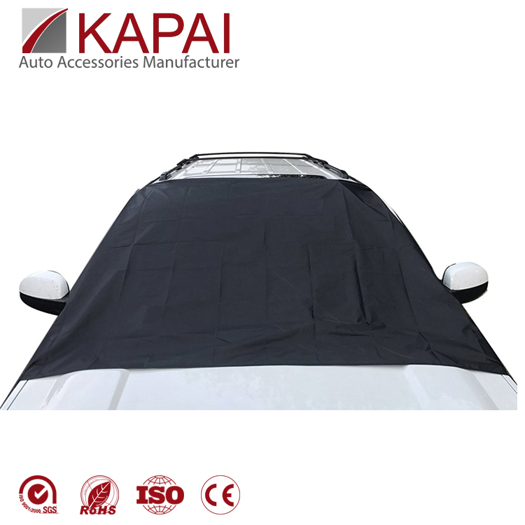Waterproof universal fit magnetic car snow cover windshield ice cover for car with string