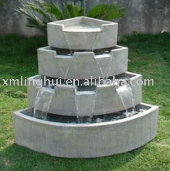 corner waterfall outdoor fountain - Waterfall Fountain