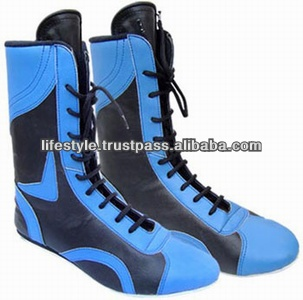 Men Leather Boxing Boots