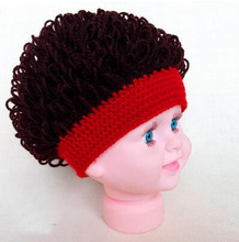 Fashion kids funny hats plush handmade caps cool boy elasticity headwear