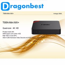 2016 set top box digital tv cable receiver amlogic 4k ultra hd MINI MX T95n S905 1g 8gQuad core tv box