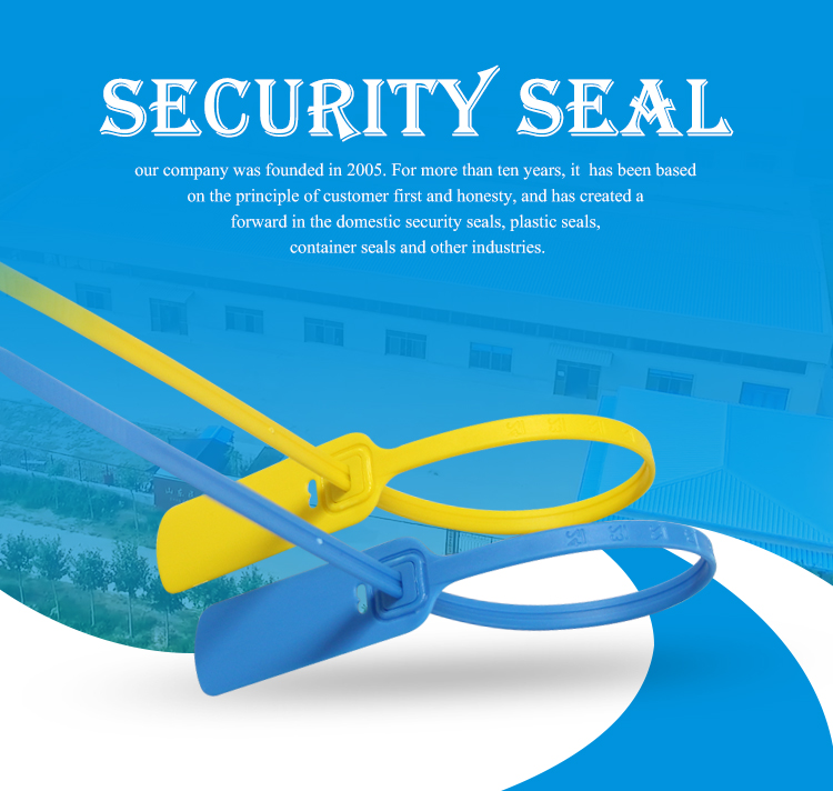 MA - PS 6021 Pull tight tamper evident plastic seals for luggage and money bag
