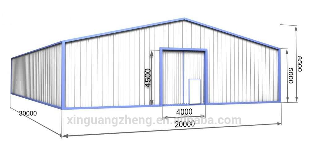steel frame building design for workshop