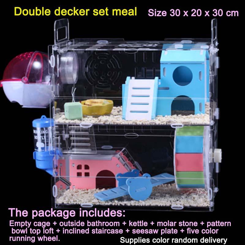 Прозрачные Акриловые Пластиковые для хомяка клетка для маленького питомца морская свинка гнездо маленькие животные мыши клетка Шиншилла х...(Китай)