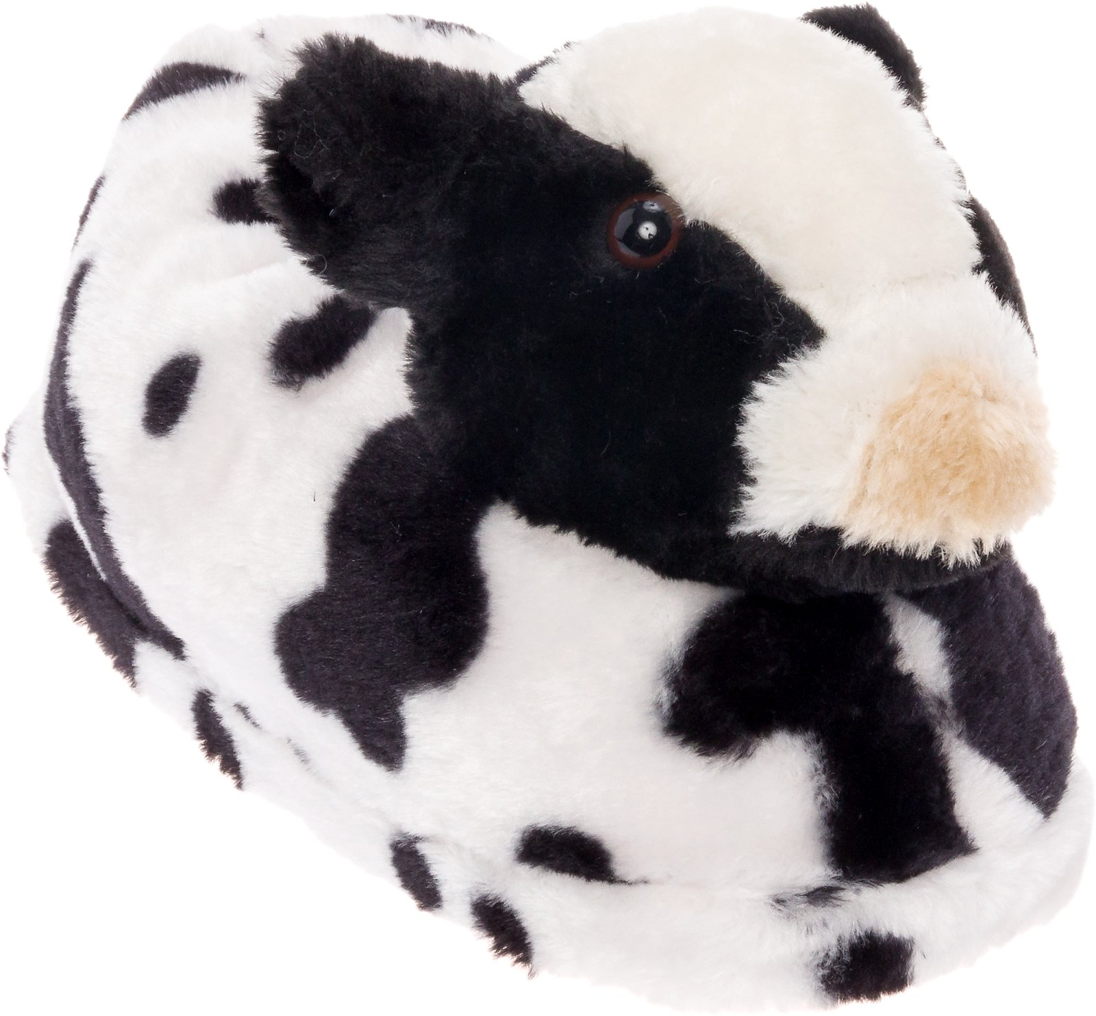 ccb31a509a9 Silver Lilly Cow Slippers - Plush Animal Slippers w Comfort Foam Support by