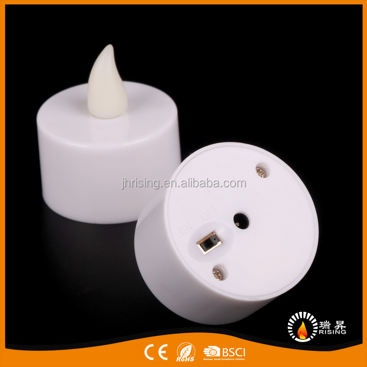 Singular Rechargeable LED Tiny Tea Light Candles With Battery Operated