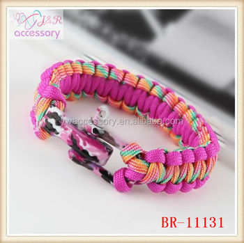 pink paracord bracelet for girlscolorful paracord