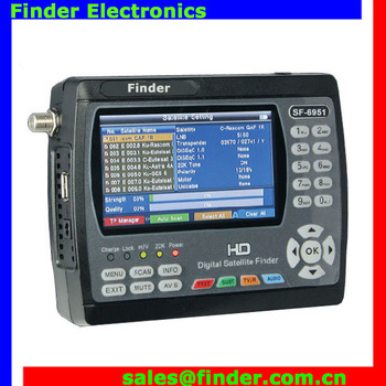 Factory Price Dvb-s2 Hd Satellite Signal Finder Meter Satlink Ws6951 - Buy  Hd Satellite Signal Finder Meter,Ws6951,Satellite Meter Product on