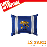 new fashion soccer sport logo custom printing pillow case&home decorative pillow