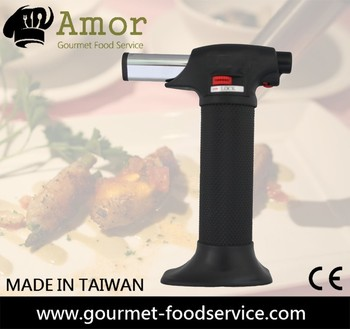 Chef creme brulee micro gas koken fire torch