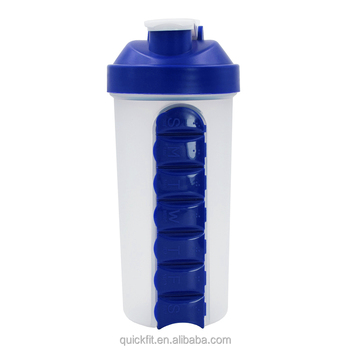 600ml low moq cheap blank protein pill protein powder shaker bottle with pill