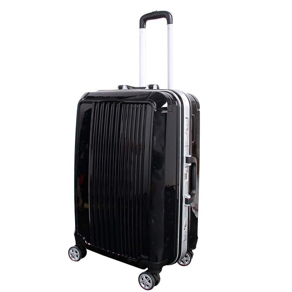 2017 wholesale pc material waterproof royal polo luggage trolley case with wheels