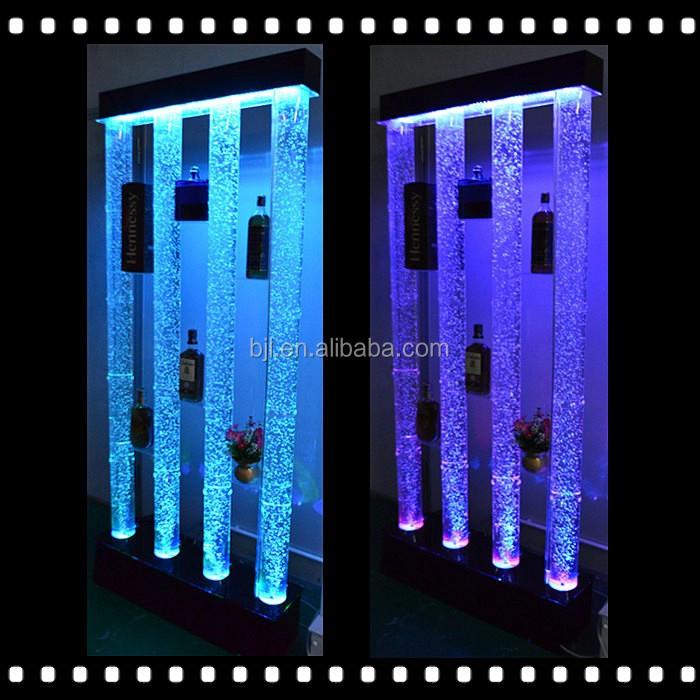 Led Lighting Water Bubble Tube Cube Wall Shelf