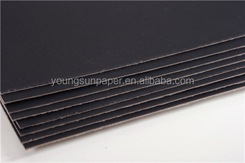 600gsm thin black card paper cardboard with black color paper buy