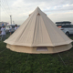 Bell tent UK 4M sibley canvas bell tent