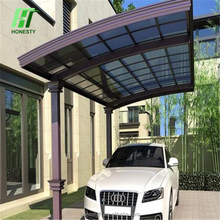 Honesty aluminum carport& Garage with polycarbonate pc sheet roof- retractable carport