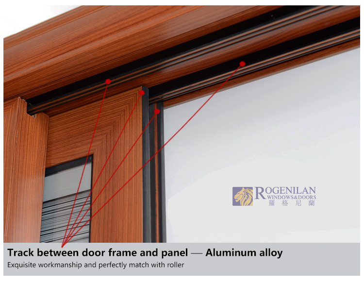 Rogenilan Double Glazing Sliding Glass Door With Built In