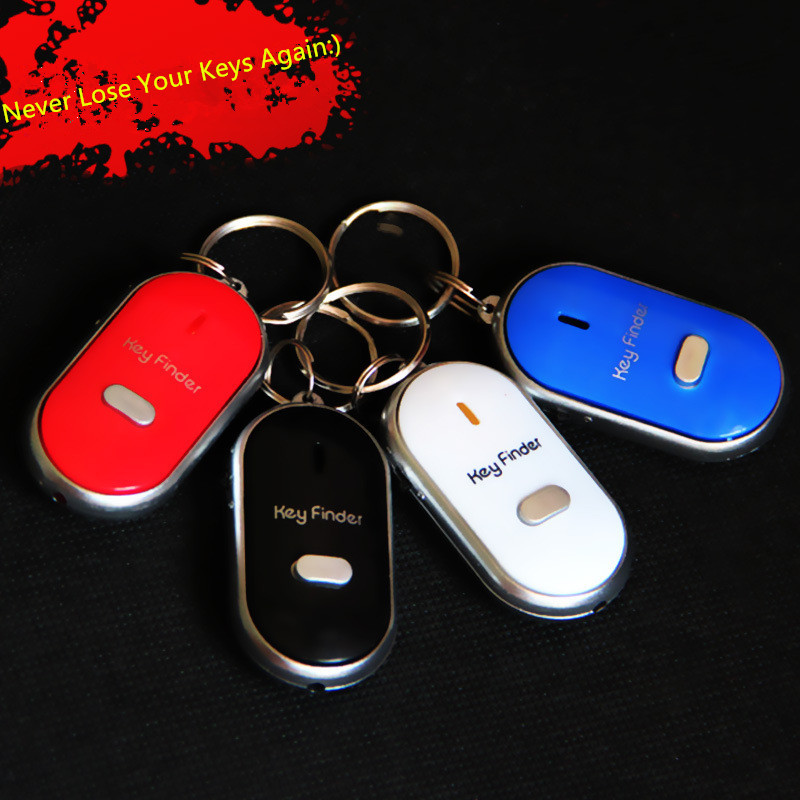 Anti-Lost Finder Sensor Alarm Whistle Led Key Finder Locator Keychain with Whistle Beep Sound keychain multi-functional keychain