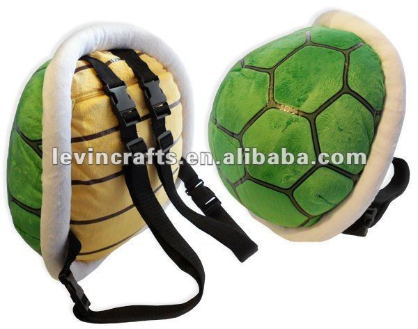plush turtle shell backpack