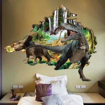 cpsia dinosaur removable peel & sticker pvc 3d wall sticker - buy
