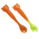 Bulk Small Hard Temperature Sensitive Color Changing Disposable Baby Feeding PP Plastic Spoon For Baby